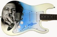 Rolling Stones Keith Richards Airbrushed Signed Guitar UACC RD