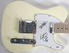 Rolling Stones Keith Richards Charlie Watts Signed Telecaster Guitar PSA/DNA