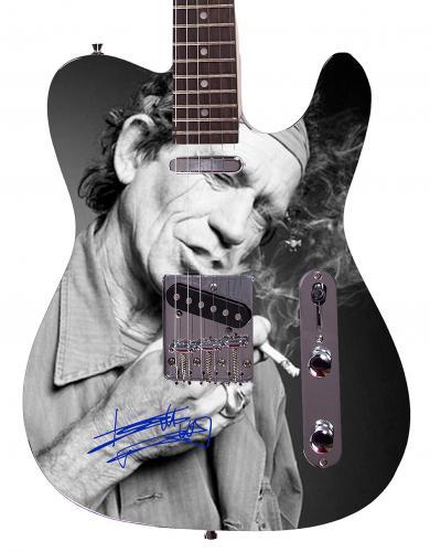 Rolling Stones Keith Richards  Facsimile Signature  Guitar