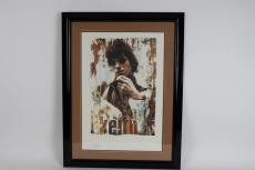 Rolling Stones- Keith Richards LE Litho Poster by Artist Gered Mankowitz 26×34 Display
