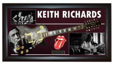 Rolling Stones Keith Richards Signed 12String Guitar + Display Shadowbox PSA