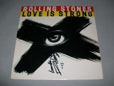 """ROLLING STONES KEITH RICHARDS signed """"LOVE IS STRONG"""" EP RECORD PSA/DNA LOA!"""
