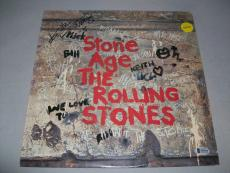 "ROLLING STONES KEITH RICHARDS signed ""STONE AGE"" LP RECORD BECKETT LOA (BAS)"