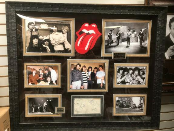 """Rolling Stones (Mick Jagger)  """"Autographed"""" (PSA) Deluxe Framed Photo College"""