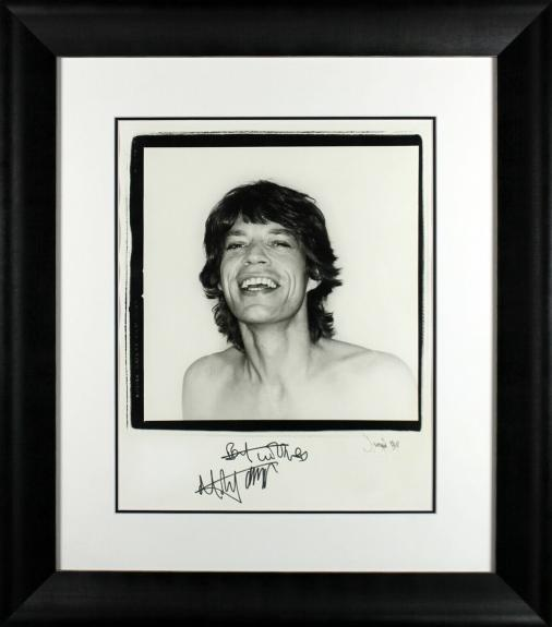 "Rolling Stones Mick Jagger ""Best Wishes"" Signed 16x20 Framed Photo BAS #A86820"