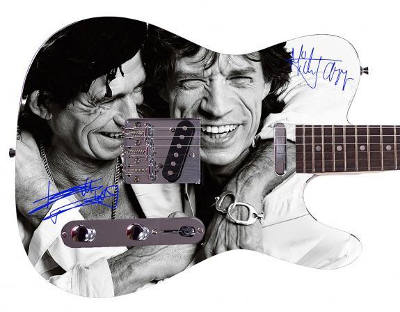 Rolling Stones Mick Jagger  Facsimile Signature  Guitar