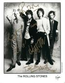 Rolling Stones Mick Jagger Keith Richards Ron Wood Charlie Watts Signed Photo AF