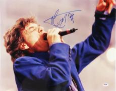 Rolling Stones Mick Jagger Rare Signed 16x20 Color Photo Psa/dna Coa U01312
