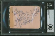Rolling Stones Signed Autographed 3x4 Album Page Richards Jagger Jones +2 BAS