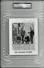 Rolling Stones Signed Autographed 4x6 Promo Card Photo w Jagger JONES +3 PSA/DNA