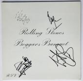 Rolling Stones signed beggars banquet album mick jagger keith richards psa dna