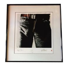 Rolling Stones sticky fingers facsimile signed album artwork framed LE /5000 COA