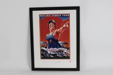 Rolling Stones Tour Limited Edition 632/5000 Stamped Signature Lithographic Image 12×18 in 26×20 Display