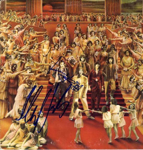 Rolling Stones x2 Autographed Signed Album Lp Cover AFTAL