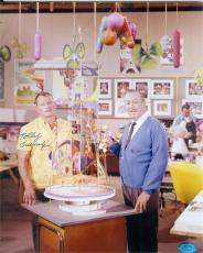 Rolly Crump autographed 8x10 Photo (pictured with Walt Disney Animator) Image #SC1