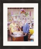 Rolly Crump autographed 8x10 Photo (pictured with Walt Disney Animator) #SC1 Matted & Framed