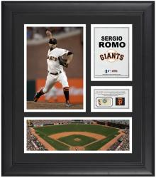 "Sergio Romo San Francisco Giants Framed 15"" x 17"" Collage with Game-Used Baseball"