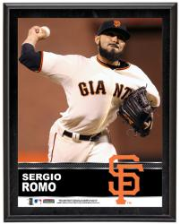 Sergio Romo San Francisco Giants Sublimated 10.5'' x 13'' Plaque - Mounted Memories