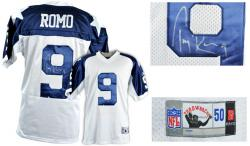 Tony Romo Dallas Cowboys Autographed White Reebok EQT Throwback Jersey