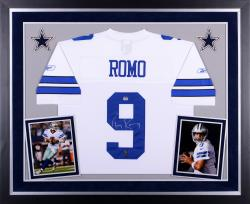 Tony Romo Dallas Cowboys Autographed Deluxe Framed Reebok EQT Jersey