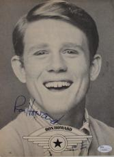 Ron Howard Actor Filmmaker 'Happy Days' Signed 8x10 Autographed Mag Page JSA COA