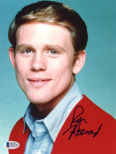 "Ron Howard Autographed 8""x 10"" Happy Days Red Sweater Photograph - Beckett COA"