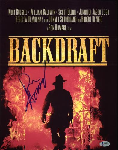 Ron Howard Backdraft Signed 11X14 Photo Autographed BAS #B38817