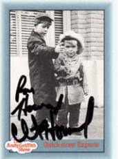 Ron Howard & Clint Autographed Signed Andy Griffith Show Card AFTAL