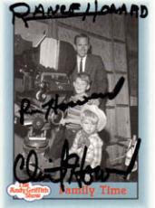 Ron Howard Clint Rance Signed The Andy Griffith Show Card PSA AFTAL