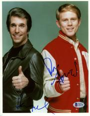 "Ron Howard & Henry Winkler Autographed 8""x 10"" Happy Days Thumbs Up Photograph - Beckett COA"