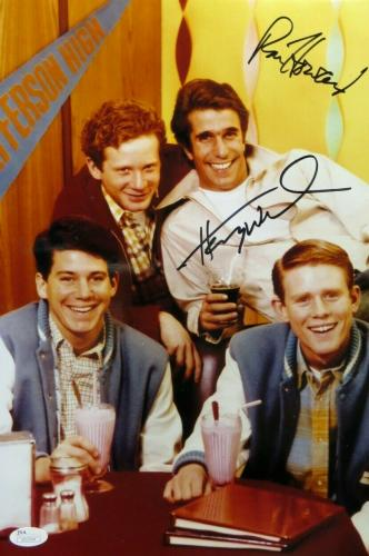 Ron Howard Henry Winkler Signed Autographed 10X15 Photo Happy Days Posing JSA