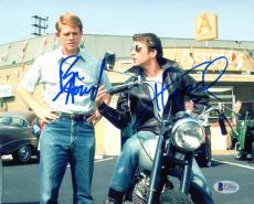 RON HOWARD & HENRY WINKLER SIGNED AUTOGRAPHED 8x10 PHOTO HAPPY DAYS BECKETT BAS