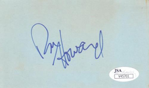 RON HOWARD  Signed 3X5 Index Card, Director, Cocoon, Apollo 13 JSA V45701
