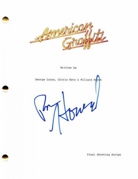 Ron Howard Signed Autograph American Graffiti Full Movie Script - George Lucas