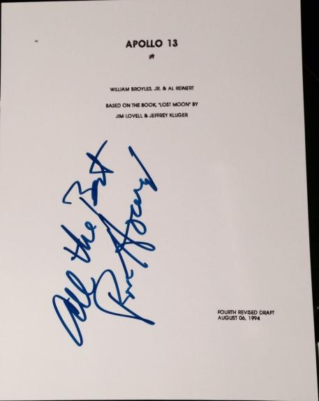 "Ron Howard Signed Autograph Rare ""apollo 13"" Full 181 Page Movie Script With Coa"