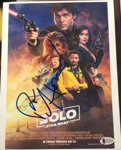 Ron Howard Signed Autograph Star Wars Han Solo Story New Mini Poster Beckett Coa