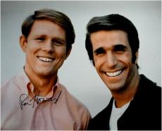 Ron Howard Signed Autographed 16x20 Photo W/ Henry Winkler Big Smiles Happy Days