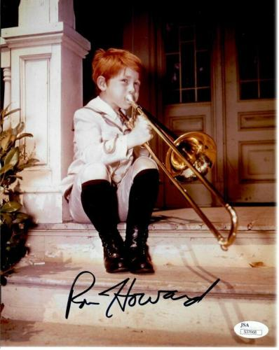 Ron Howard Signed Autographed 8X10 Photo Andy Griffith Show Trumpet JSA S37668