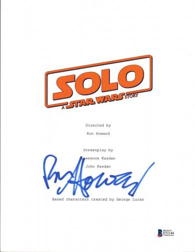 Ron Howard Signed Autographed SOLO A STAR WARS STORY Movie Script Cover BAS COA