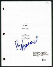Ron Howard Signed Splash Movie Script Cover Autographed BAS #D05675