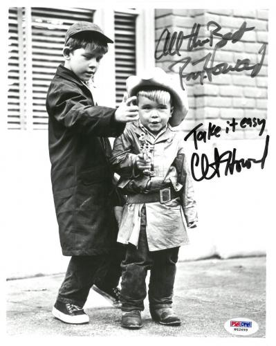 Ron Howard/Clint Howard Signed Autographed 8x10 B/W Photo PSA/DNA #W62699