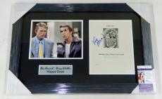 Ron Howard/Henry Winkler Signed Framed Display Piece Happy Days JSA Auto