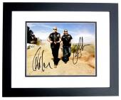 Ron Perlman and Charlie Hunnam Signed - Autographed Sons Of Anarchy SOA 8x10 inch Photo BLACK CUSTOM FRAME - Guaranteed to pass PSA or JSA