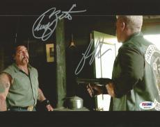 Ron Perlman & Chuck Zito Signed 8x10 Photo PSA/DNA COA Sons of Anarchy Autograph