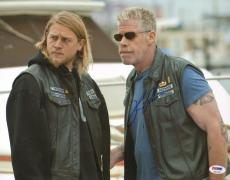 Ron Perlman Signed 11x14 Photo PSA/DNA SOA Samcro Picture w/ Jax Charlie Hunnam