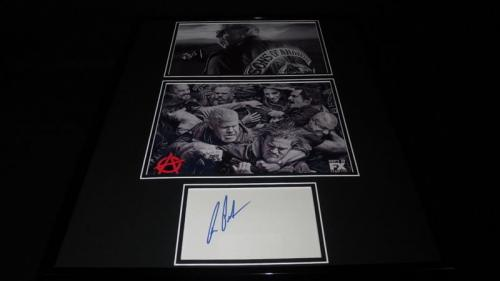 Ron Perlman Signed Framed 16x20 Photo Set Sons of Anarchy Clay