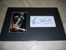 Ron Wood Rolling Stones Signed Autographed Photo Display PSA Certified Rock Roll