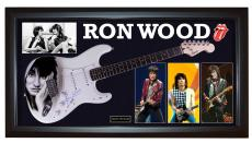 Ron Wood Rolling Stones Signed Guitar + Display Shadowbox Case PSA AFTAL UACC RD
