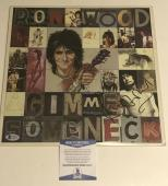 Ron Wood Signed Gimme Some Neck Album Vinyl Autograph Rolling Stones Bas Coa