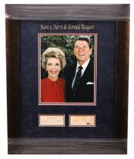 Ronald And Nancy Reagan Davis Jsa Hand Signed Framed Vintage Piece Autograph